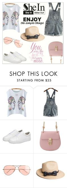 """""""Shine with SheIn"""" by katyusha-kis ❤ liked on Polyvore featuring J.Crew and The Season Hats"""
