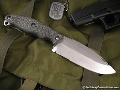 "Item Condition: New Handle Material: Textured Canvas Micarta Blade Steel:  A2  Blade Length: 4  3/8"" OAL: 9"" Sheath:  Kydex"