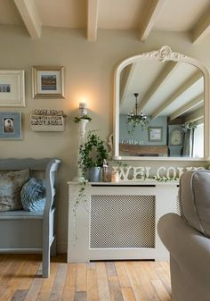 25 Beautiful Homes magazine. Lavender Cottage is featured in this months, 25 Beautiful Homes magazine. Country Cottage Interiors, Country Interior, Hallway Inspiration, Home Decor Inspiration, Cottage Living Rooms, Home And Living, Style At Home, Whitby Cottages, 25 Beautiful Homes