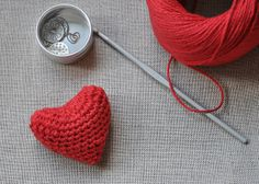 Crocheted Valentine's Day Heart by // Between the Lines //, via Flickr