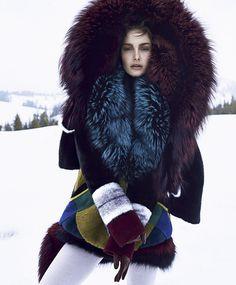 Ophelie Guillermand for Harpers Bazaar US October 2014