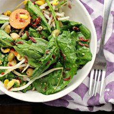 Definitely want to try the lemon miso dressing recipe for this salad