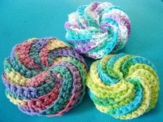 Spiral Scrubbies  if only I could knit or crochet...oh wait...I can!