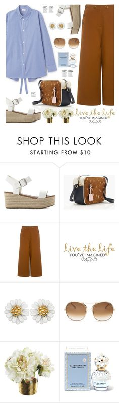 """Live the life you´ve imagined"" by hamaly ❤ liked on Polyvore featuring Steve Madden, J.Crew, TIBI, WALL, Chloé, Marc Jacobs, outfit, ootd, dresses and gingham"