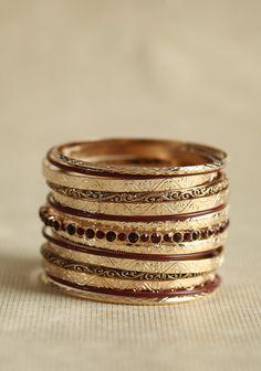 Maharani Bangle Set In Ruby | Modern Vintage Bracelets | Modern Vintage Jewelry