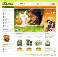 Website Template #23909 Pet Store osCommerce