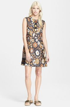MARC JACOBS Sleeveless Floral Print Silk Twill Dress available at #Nordstrom