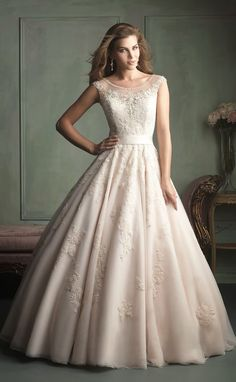 Blush beauty ~ Allure Bridals Spring 2014