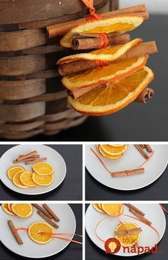 It's that time of year again! Who doesn't love the fall season? Segway into the holidays with this list of 35 DIY Fall Decorating Ideas for the Home. Dried Orange and Cinnamon Ornaments Autumn Crafts, Thanksgiving Crafts, Decor Crafts, Holiday Crafts, Diy Crafts, Natural Christmas, Noel Christmas, Rustic Christmas, Christmas Ornaments