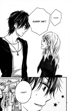Read Hatsukoi Kouho Chapter Ibi-Manga : [Oneshot] - Trying to fulfill her grandmother's dying request, our protagonist suddenly asks will you marry me! Manga Couple, Anime Couples Manga, Manga Anime, Manga Love, Manga Girl, Manga To Read, Anime Drawings Sketches, Manga Drawing, Nouveau Manga