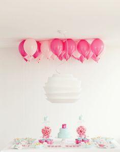 birthday party girl - I like lots of balloons!