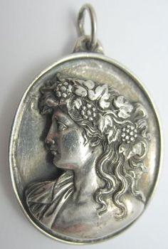 Henryk Winograd Silver Cameo Bacchante