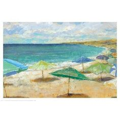 Featuring a serene seascape motif, this wrapped canvas print brings a touch of tranquility to any wall. Let it anchor a classic coastal gallery wall, or hang it on its own as a lovely focal point in the master suite.