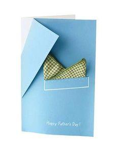 Manualidades Día del Padre: fotos tarjetas de felicitación DIY - Original tarjeta Día del Padre