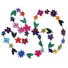 daisy chain necklace — Danielle Gori-Montanelli Felt Necklace, Daisy Chain, American Crafts, Fiber Art, Wool Felt, Jewelry Crafts, Fancy, Shapes, Floral