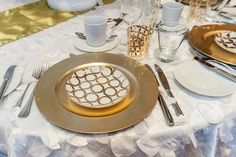 #whimsical #gold white hanging circle linen. Designed by @eventsbytoast
