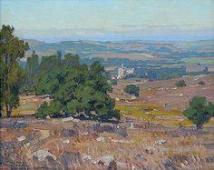 William Wendt Over the Hills to Monterey oil/canvas 16 x 20