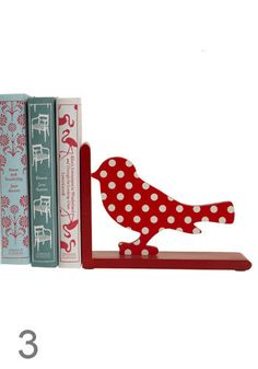 . . . love polka dots . . . love birds . . . love books . . . love this--I'd do this with bunnies.