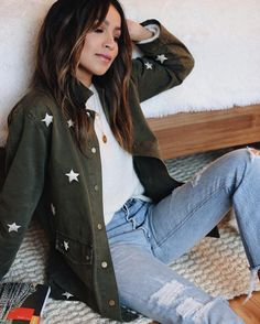 """Shop Sincerely Jules on Instagram: """"New in: Bailey Star Embroidered Jacket! ✨✨✨✨ 