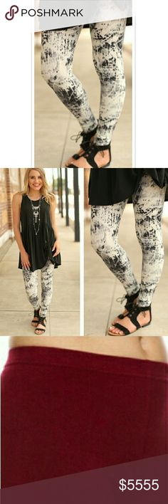 {JUST IN} Black•and•Cream•Print See Pic 4 for description. Infinity Raine Pants Leggings