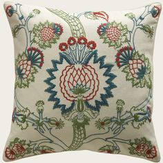 Hand embroidered cushion - love the colours   'Urbino' by Alidad