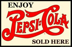 Enjoy Pepsi Cola Sold Here Double Dot Rec Room Tin Sign #M665