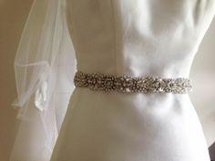 Bridal sash - Wilma 27 inches (1 qty Ready to Ship)