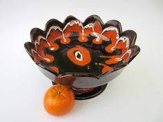 Ceramic fruit DISH  French vintage VALLAURIS by LeFrenchBazaar, €40.00