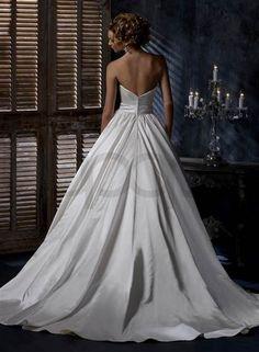 Nice wedding dress ball gown satin