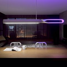 The Infinito is a LED suspension lamp by QisDesign for a one-of-a-kind dining experience. Serves both as illuminating and atmospheric lighting.