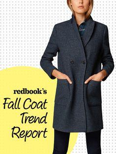 Double-breasted coat, $380; Massimo Dutti.    - Redbook.com