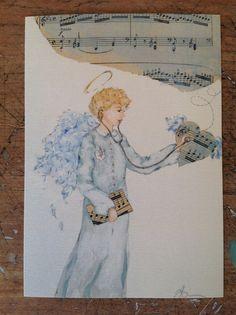 Angelo stampa dal mio acquerello originale, è 10x15cm