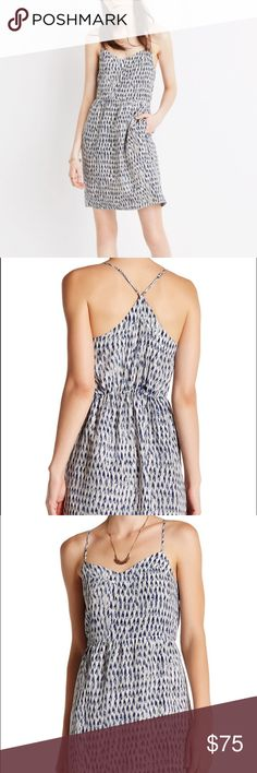 Madewell printed silk dress New with tags! - V-neck - Sleeveless - Adjustable spaghetti straps - Elasticized back waist - 2 side pockets - Allover print - hits above the knee Madewell Dresses Mini