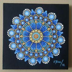 Mandala Artwork, Mandala Canvas, Mandala Painting, Mandala Pattern, Mandala Design, Pattern Art, Mandala Painted Rocks, Mandala Rocks, Dot Art Painting