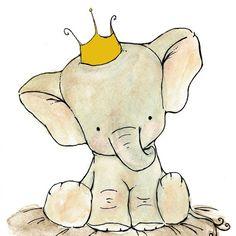 Royal Elephant Art by trafalgarssquare on etsy.com