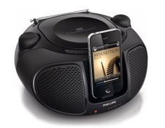 NEW Philips AZD-102 iPod/iPhone Docking player Dock Bass FMRadio CD,CD-R Station