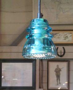 Repurposed Industrial Lighting - The RailroadWare Insulatorlights are Upcycled Treasures (GALLERY)