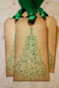 Vintage Inspired Holiday Tags Christmas Tree by JacquelynVaccaro