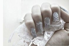 24 Delightfully Cool Ideas For Wedding Nails - Lace Nails