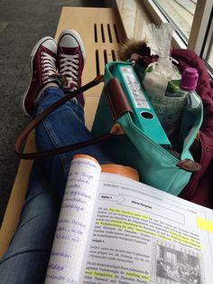 school, studying, and longshamp image