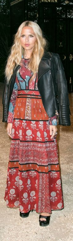 Rachel Zoe on the red carpet at the Burberry London in LA Show.