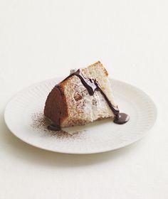 Kit Kat-Filled Angel Food Cake - Recipes for Leftover Halloween Candy
