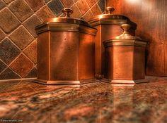Copper Canisters Photograph by Mike Hendren Copper Penny, Copper Pots, Copper Kitchen, Bronze, Copper Canisters, Kitchen Canisters, Color Cobre, Orange Kitchen, Copper Decor
