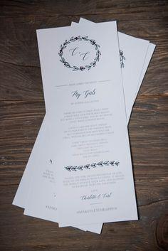 'ello Paper | Photo by Jeffrey Gleason Photography | Custom Wedding Stationery | Ceremony Program | Early Mountain Vineyard | Orange, Virginia