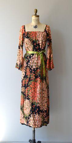 Hanging Garden maxi dress vintage 1970s maxi dress by DearGolden