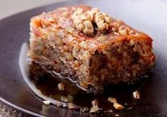 Ëmbëlsirë me arra dhe çokollatë - Receta Kuzhine Baking Recipes, Cake Recipes, Dessert Recipes, Vegan Cake, Vegan Desserts, Sweet Desserts, Greek Cake, Albanian Recipes, Albanian Food