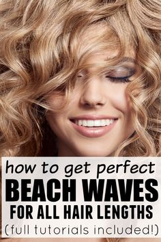 Whether you have long hair, short hair, or medium-length hair, this collection of beachwaves tutorials will teach you how to get those DIY beachwaves we all love!