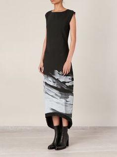 00:00:mm Midnight Methods Mountain Print Sleeveless Dress - L'eclaireur - Farfetch.com