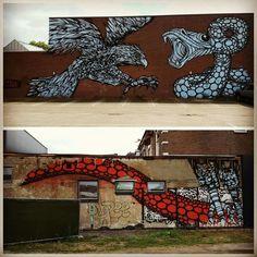 Nice wall by artist Gijs Vanhee Photo credit by Leon Lagewaard