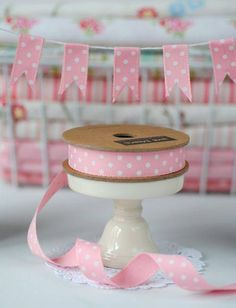 Ribbon Bunting: DIY Craft Tutorial by ribbon designer Jane Means Kids Crafts, Easter Crafts, Diy And Crafts, Christmas Crafts, Bible Crafts, Cat Crafts, Diy Ribbon, Ribbon Crafts, Craft Tutorials